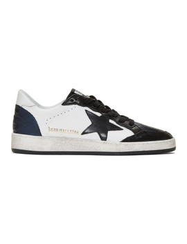 Black & White Ball Star Sneakers by Golden Goose