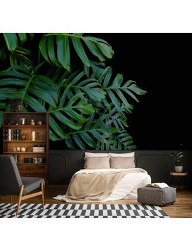 Green Leafs Monstera Mural,Print Painting,Home Decor,Wall Decal,Removable Peel And Stick Wallpaper,Wall Decor,Sticker,Clipart,Floral Clipart by Etsy