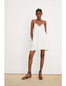 Overall Kleid Aus Festem Stoff Mit Stickereijoin Life Damen Corner Shops by Zara