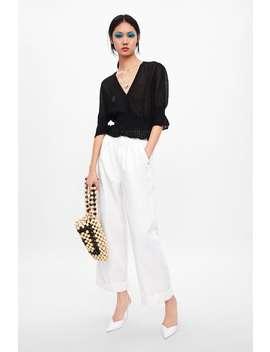 Semi Sheer Knit Cardigan View All Knitwear Woman by Zara
