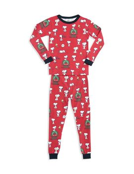 Unisex Printed Holiday Pajama Shirt & Pants Set   Big Kid by Bed Head