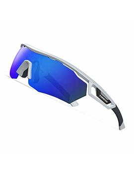 Torege Polarized Sports Sunglasses With 3 Interchangeable Lenes For Men Women Cycling Running Driving Fishing Golf Baseball Glasses Tr05 by Torege