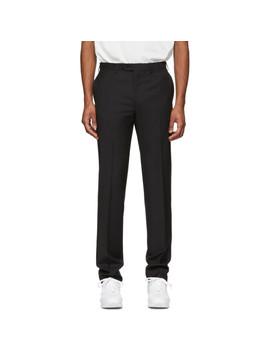Black Megeve Slim Trousers by Brioni