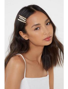 Raise Hell Baby Pearl 3 Pc Hair Slides by Nasty Gal