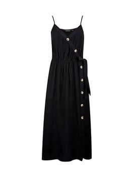 Black Camisole Dress With Linen by Dorothy Perkins