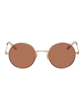 Rose Gold Seville Sunglasses by Garrett Leight