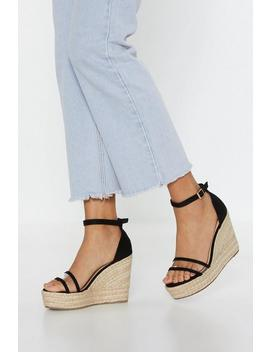 Give It Up Perspex Espadrille Wedges by Nasty Gal