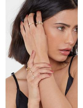 Dainty Stones Ring Pack by Nasty Gal
