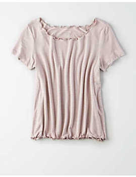 Ae Soft&Amp; Sexy Lettuce Edge T Shirt by American Eagle Outfitters