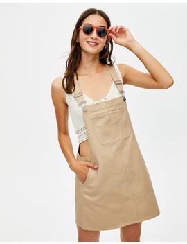 Shoptagr Vestido De Ganga Em Ocre By Pull Bear