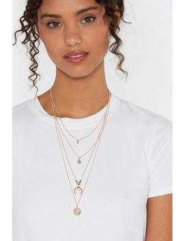Multi Layered Moon Pendant Necklace by Nasty Gal