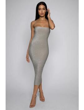 9bd539b283b7 Shoptagr | Stella Jewelled Maxi Dress Rose Gold by Meshki