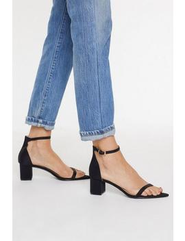 It's Just How We Heel Low Block Satin Sandals by Nasty Gal