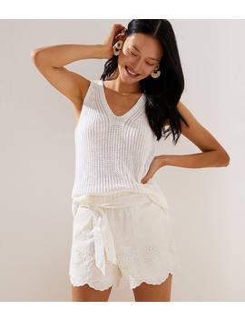 crochet-tie-waist-shorts by loft