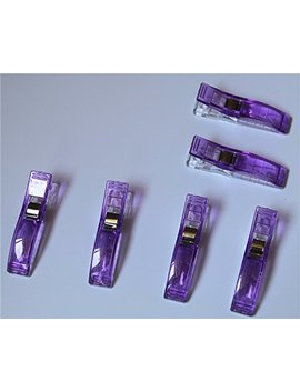 Cady Jumbo Wonder Clips With Seam Allowance Markings, 2 1/4 Inch, (100pcs, Purple) by Cady
