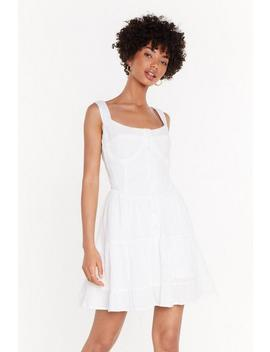 Cup Detail Frill Hem Mini Dress by Nasty Gal