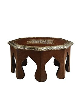Rusticity Wooden Altar Table/Pooja Chowki/Plant Table | Handmade | (12x12x6 In) by Rusticity