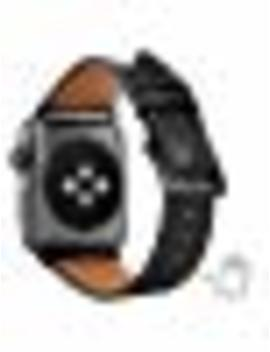 compatible-iwatch-band-38mm-40mm,-top-grain-leather-band-replacement-strap-iwatch-series-4,series-3,series-2,series-1,sport,-edition-(black-band+black-buckle,-38mm-40mm) by hot