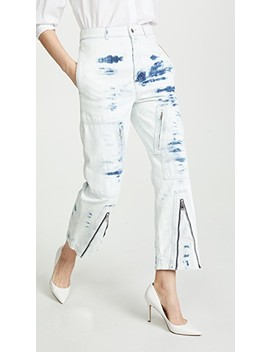 Slit Front Tie Dye Jeans by Stella Mc Cartney
