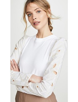 Eyelet Sleeve Top by See By Chloe