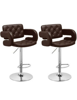 Brilliant Shoptagr 2X Modern Swivel Pu Leather Bar Stools Breakfast Gmtry Best Dining Table And Chair Ideas Images Gmtryco