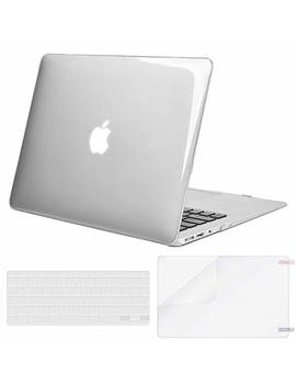Mosiso Plastic Hard Case & Keyboard Cover & Screen Protector Only Compatible Mac Book Air 13 Inch (Models: A1369 & A1466, Older Version 2010 2017 Release), Crystal Clear by Mosiso