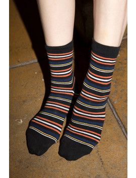 Dark Multi Stripe Socks by Brandy Melville