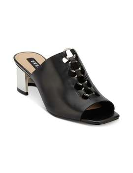 Dkny Womens Greyson Leather Peep Toe Mules by Dkny