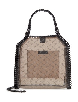 Mini Falabella Logo Clear Tote by Stella Mccartney