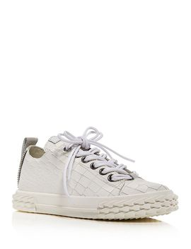 Women's Blabber Croc Embossed Low Top Sneakers by Giuseppe Zanotti