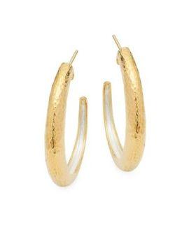 Sterling Silver Hammered Earrings by Gurhan