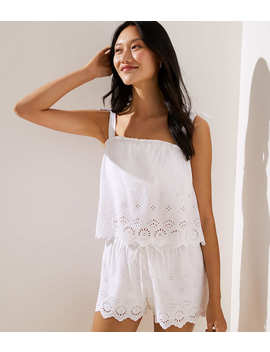 Loft Beach Eyelet Tie Shoulder Top by Loft