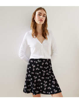 Daisy Chain Ponte Flippy Skirt by Loft