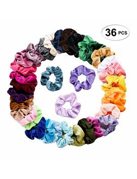 Seven Style 36 Pcs Hair Scrunchies Velvet Elastic Hair Bands Scrunchy Hair Ties Ropes Scrunchie For Women Or Girls Hair Accessories   36 Assorted... by Seven Style