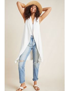 Draped Longline Vest by Anthropologie