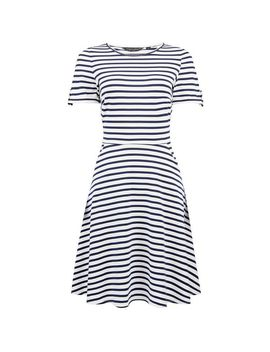 Multi Coloured Stripe Print Button T Shirt Dress by Dorothy Perkins