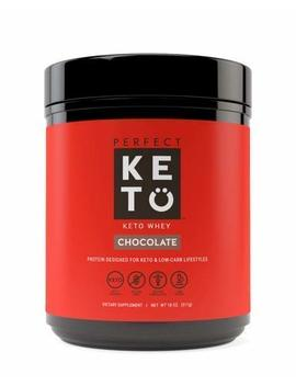 Perfect Keto Pure Whey Protein Powder Isolate | Delicious 100% Grass Fed Whey | No Artificials, Gluten Free, Soy Free, Non Gmo (Chocolate) by Perfect Keto