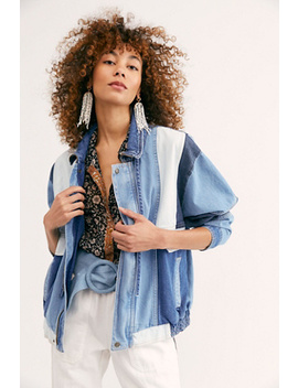 Panel Denim Bomber Jacket by Free People