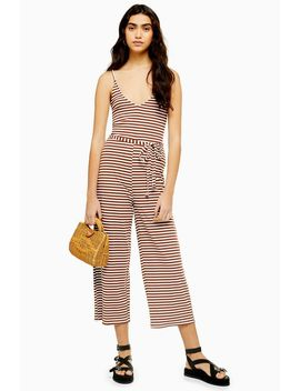 Strappy Stripe Jumpsuit by Topshop