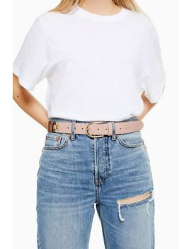 Crocodile And Snake Mix Belt by Topshop