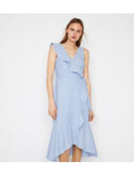 coupon code online store offer discounts Shoptagr | Stripe Frill Midi Wrap Dress by Warehouse
