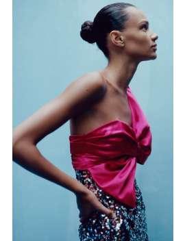 64e8a44b Shoptagr | Sequin Mini Dress With Bow Dresseswoman by Zara