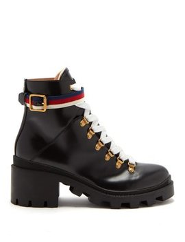Trip Leather Boots by Gucci