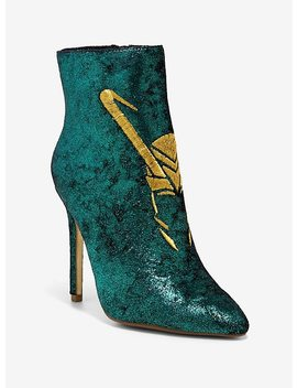 Her Universe Marvel Avengers Loki Heel Booties by Hot Topic