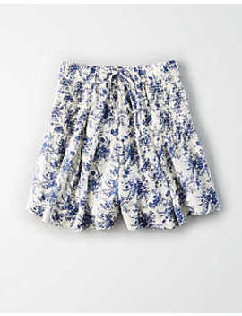 Ae High Waisted Smocked Side Shorts by American Eagle Outfitters