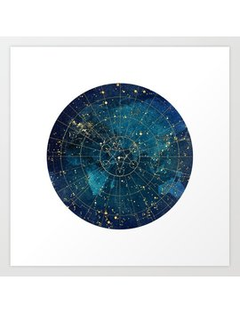 Star Map / City Lights Art Print by Society6