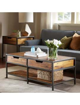 Madison Park Ryker Natural/ Graphite Coffee Table by Madison Park