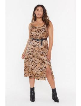 Gold Animal Bias Cut Co Ord Skirt by Nasty Gal