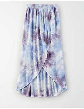 Ae Studio Tie Dye Midi Skirt by American Eagle Outfitters