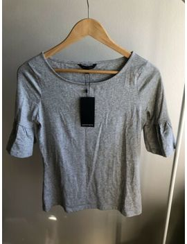 Portmans Light Grey Flutter Sleeve Tshirt Top Xs 8 Bnwt by Portmans